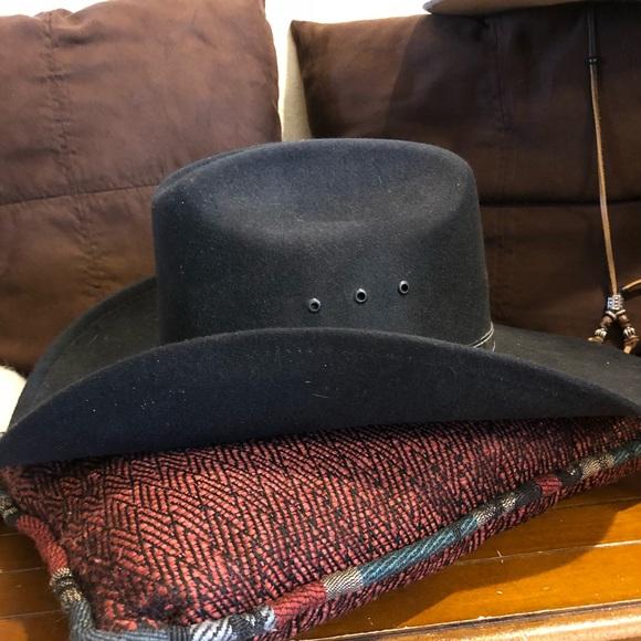 b5c5c85fb Black felt Montana cowboy hat by western express